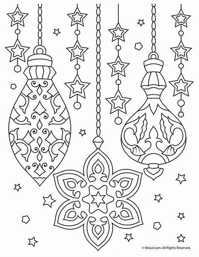 Coloring Christmas Ornaments Pages Adult Adults Printable