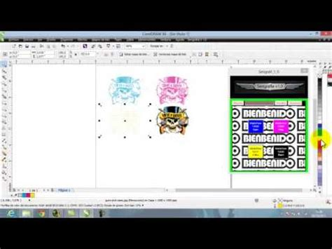 como hacer separacion de colores en corel draw  youtube