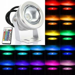 W rgb color changing waterproof remote control led flood