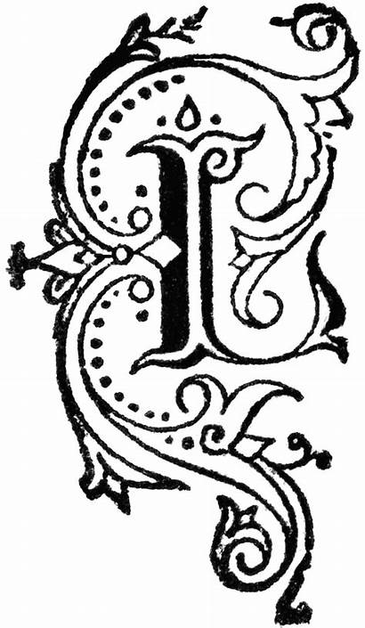Letter Letters Decorative Fancy Monogram Fonts Writing