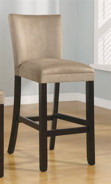Microfiber Bar Stool - set of 2 29 quot h bar stools taupe microfiber