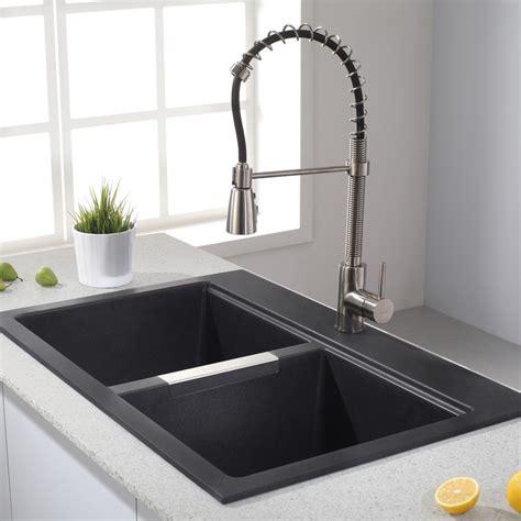 kitchen sink black granite decor modern kitchen splendid bowl drop in stainless