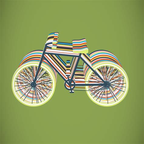 Colorful bicycle flat illustration, vector 322212 Vector ...
