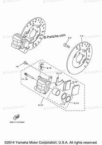 Yamaha Atv 2001 Oem Parts Diagram For Front Brake