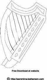Coloring Harp Irish Celtic Printable Adult Instruments Leehansen Parenting Patrick Colouring Dance Musical Digital Sheets sketch template