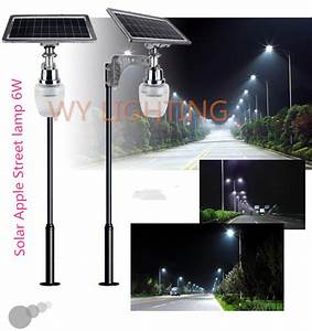 6w solar powered led street light with 10w solar panel With outdoor solar lights big w