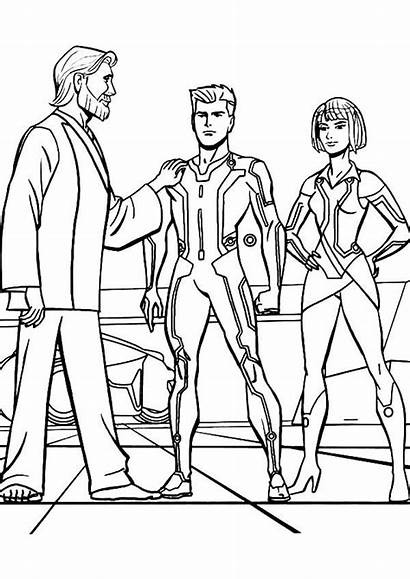 Coloring Tron Legacy Proud Kevin Quorra Flynn