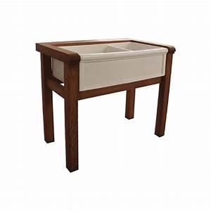meuble de cuisine luberon 2 bacs herbeau With meuble pour timbre d office