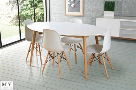 wood dining chairs with white eames chair white table with wood legs home