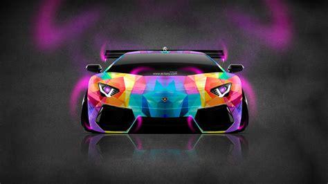 Lamborghini Aventador Blue Neon
