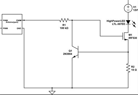Led Constant Current Circuit With Transistors Mosfets