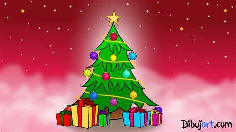 como dibujar  arbol de navidad paso  paso dibujartcom