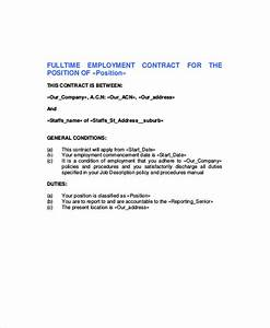 standard employment contract sample 7 examples in word pdf With full time employment contract template