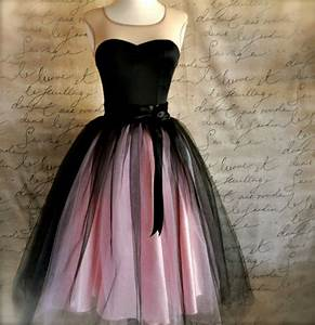 Black and pink tutu skirt for women. from TutusChicBoutique on
