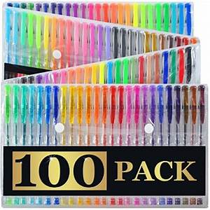 Faber Castell Classic Colour Chart Artist 39 S Choice 100 Gel Pens With Case Extra Large Set