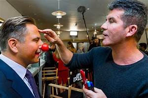 Simon Cowell paints David Walliams' face for Red Nose Day ...
