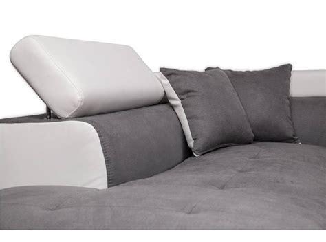 canapé d angle gris convertible canapé d 39 angle gauche convertible avec coffre blanc gris