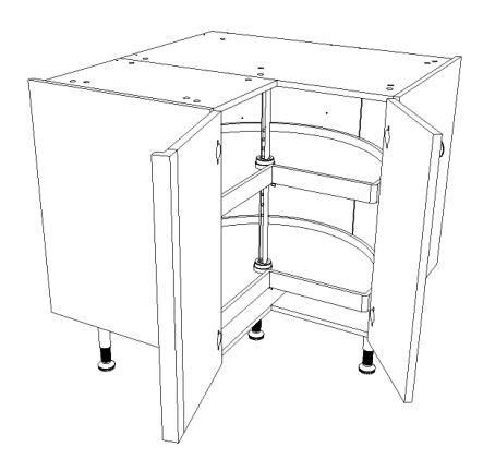 meuble bas d angle pour cuisine meuble bas d 39 angle pour cuisine équipée largeur 90 cm x 90 cm