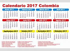Calendario Colombia 2017 newspicturesxyz