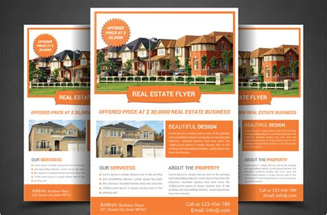 property pamphlet real estate agent flyer template www imgkid com the