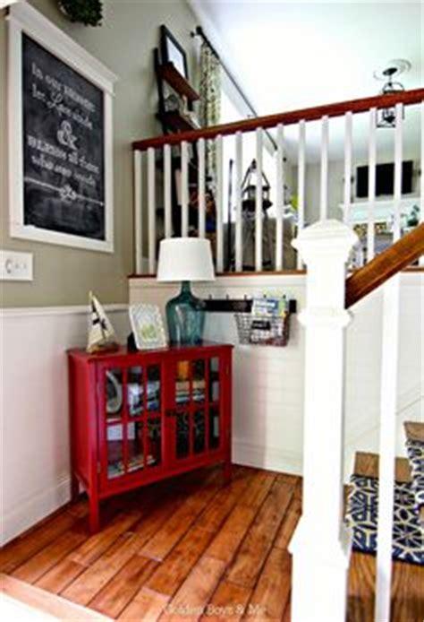 photo  living room  split foyer remodel white