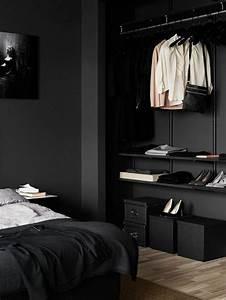 Schwarze Möbel Welche Wandfarbe : w nde streichen ideen in dunklen schattierungen ~ Bigdaddyawards.com Haus und Dekorationen