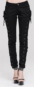Pantalon Avec Bouton Sur Le Cote : pantalon noir avec la age sur le cot gothique punk aristocrate witchy japan attitude ~ Melissatoandfro.com Idées de Décoration