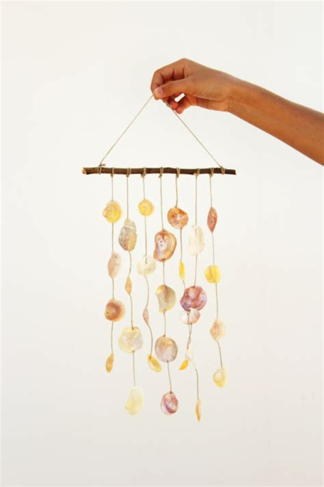 Seashell Christmas Tree by Diy Seashell Wind Chime Recyclart