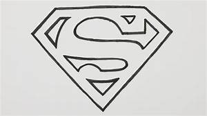 Drawn superman superman logo - Pencil and in color drawn ...