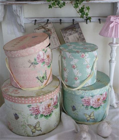 shabby chic hat boxes shabby chic hat boxes craft ideas pinterest