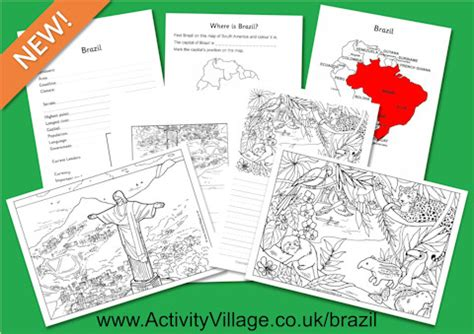 brazil colouring pages printables  worksheets