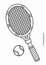 Tennis Coloring Printable Pages Sports Sport Racket Drawing Court Sheets 4kids Theme Badminton Crafts Baseball Printables Craft Diy Equipment Getdrawings sketch template
