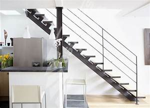 dt79 esca39droitr sur limon central escalier metal et With photo d escalier d interieur