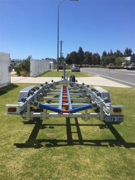Boat Accessories For Sale by Tandem Axle Aluminium Boat Trailer With Wobble Roller Set