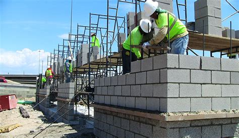 step  step construction procedure  structural masonry