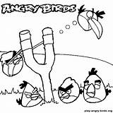 Coloring Pages Angry Birds Slingshot Glock Template Sketch sketch template