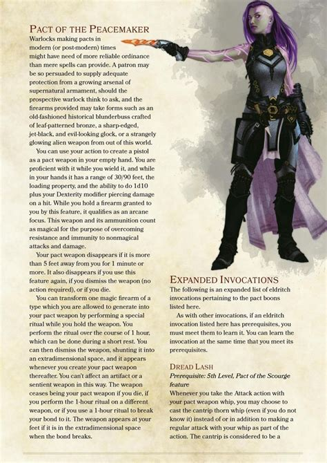 5e dnd homebrew classes warlock dragons dungeons pact races archetypes invocations character class boons edition sheet race characters warlocks weapons