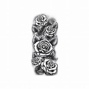 Tatouage De Rose : tatouage temporaire fleurs de rosiers de 21 cm ~ Melissatoandfro.com Idées de Décoration