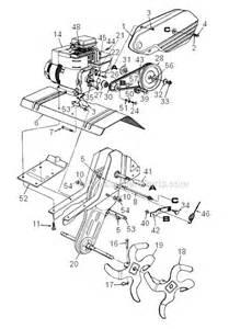 MTD Front Tine Tiller Parts Diagram