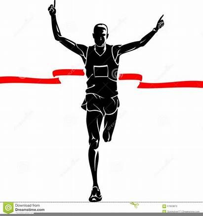 Marathon Runner Silhouette Clipart Winner Male Shadow