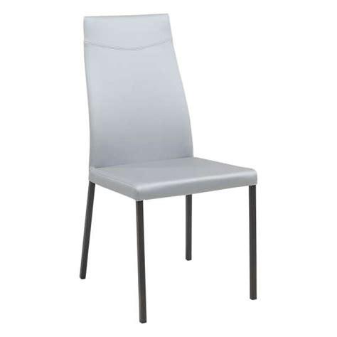 chaise de sejour chaise de séjour contemporaine en synthétique lena 4