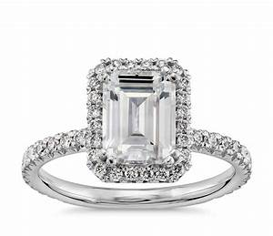 Blue Nile - Studio Emerald Cut Heiress Halo Diamond ...