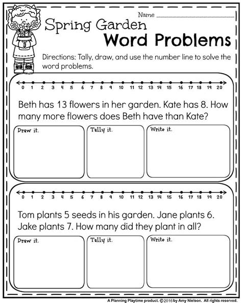 1st grade math worksheet addition word problems may grade worksheets for grade