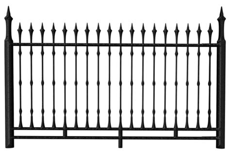 Transparent Black Iron Fence Png Clipart