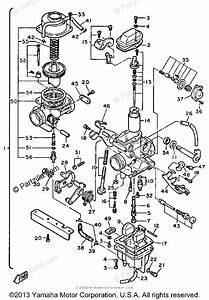 Yamaha Motorcycle 1984 Oem Parts Diagram For Carburetor