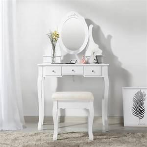 coiffeuse achat vente coiffeuse pas cher cdiscount With meuble coiffeuse avec miroir pas cher