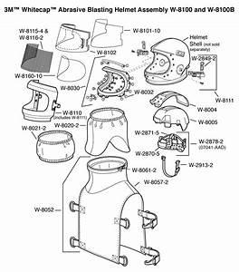 3m U2122 Whitecap U2122 Abrasive Blasting Helmet Assembly W