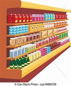 Vector Illustration of Supermarket. vector csp16885728 ...