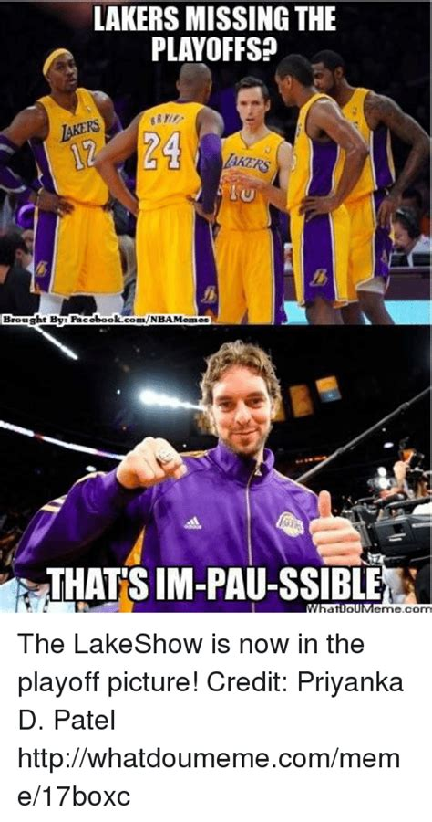 LAKERS MISSING THE PLAYOFFS? 24 IU Brought Bye Fac Ebook ...