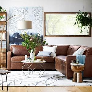 Henry 3 piece sectional leather west elm living room for Henry sofa sectional west elm